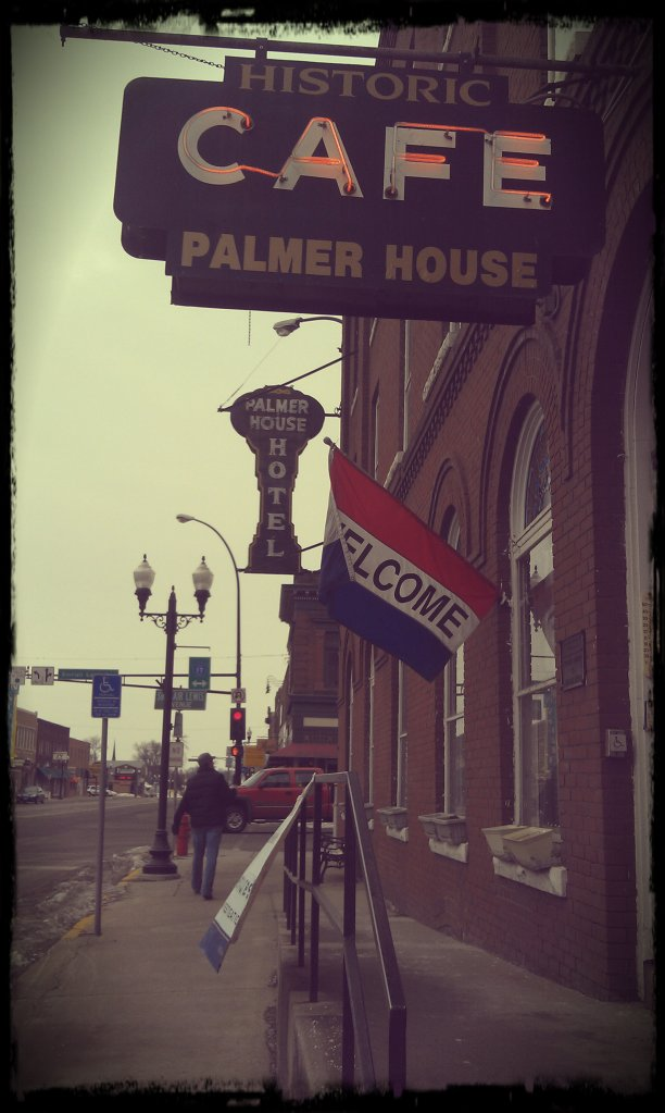 Outside the Palmer House Hotel during our trip there this past January.  That tough guy walking on the sidewalk is our very own, Scott Spinks!