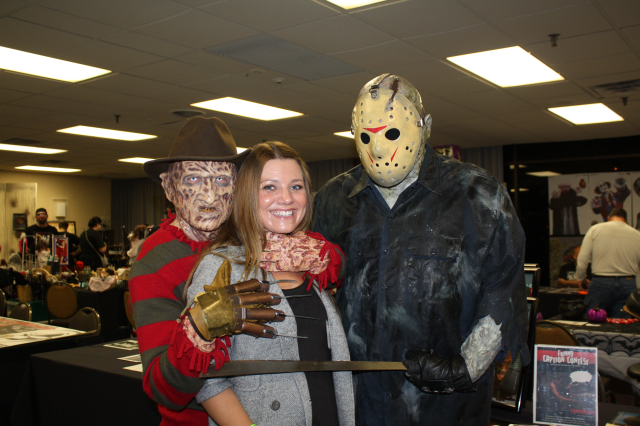 And then Freddy and Jason came after me, and I couldn't stop laughing!
