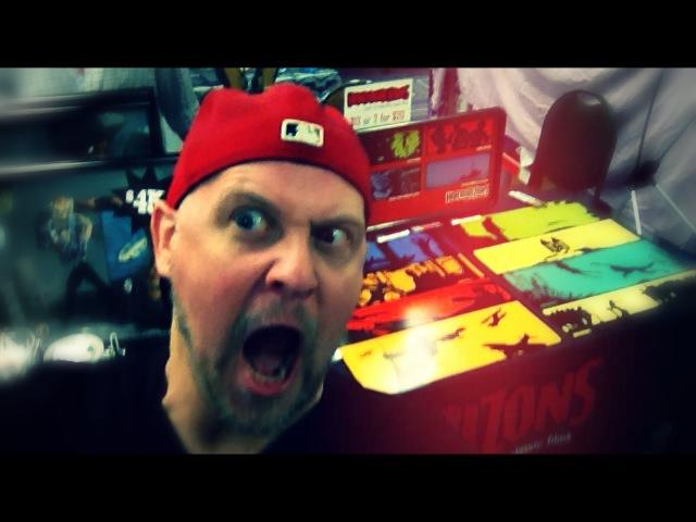 Sean's pretty pumped about having all his Horrorizon art set up and ready to sell.